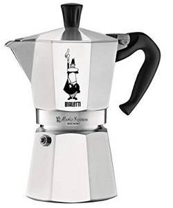 9a Bialetti The Original Moka Express - 6 Cup Stovetop Coffee Maker with Safety Valve - Brews 9.2 Ounces