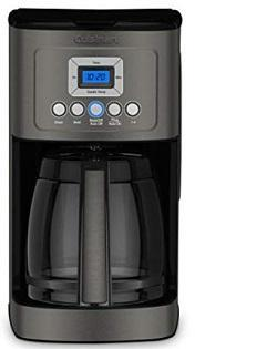 Cuisinart DCC-3200BKS Perfectemp Coffee Maker, Black Stainless Steel