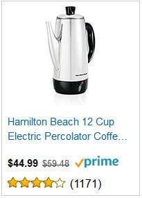 20 CUP ALUMINUM COFFEE POT