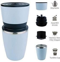 Kohi - All in One, Ultra Portable Manual Coffee Grinder and Portable Coffee Brewer