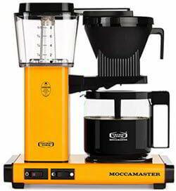 Technivorm Moccamaster 59608 KBG Coffee Brewer, 40 oz, Yellow Pepper