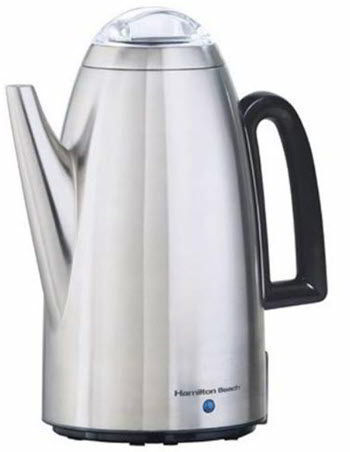 Hamilton Beach Brands 40614 Coffee Percolator, Stainless Steel, 12-Cup