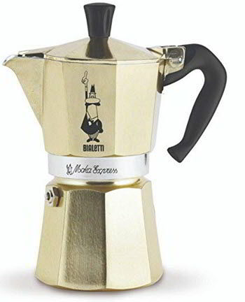 Bialetti Coffee Maker (Gold, 6-Cup)