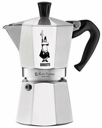 Bialetti 06800 Moka stove top coffee maker, 6 -Cup, Aluminum