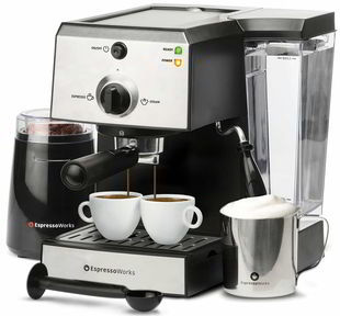 EspressoWorks 7 Pc All-In-One Espresso Machine