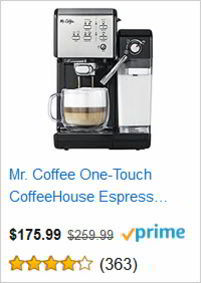 Mr. Coffee One-Touch CoffeeHouse Espress