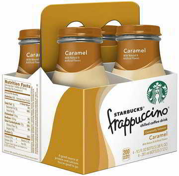 Starbucks Frappuccino Coffee Drink, Caramel, 9.5 Fl Oz (pack of 4)