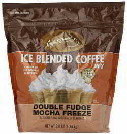 Caffe D'Amore Gourmet Iced Coffee Double Fudge Mocha Blended Drink Mix, 3 Pounds