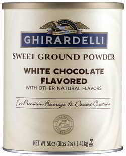 Ghirardelli Chocolate Sweet Ground White Chocolate Flavor Beverage Mix, 50 Ounce Canister