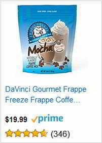 DaVinci Gourmet Frappe Freeze Frappe Coffee.