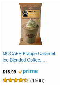 MOCAFE Frappe Caramel Ice Blended Coffee,