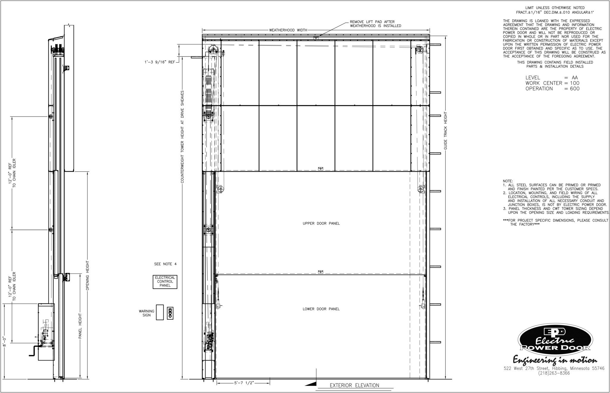 Vertical Lift Amp Drop Doors