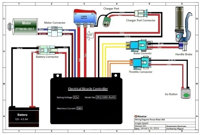 zapper electric bike wiring diagram  schematic wiring