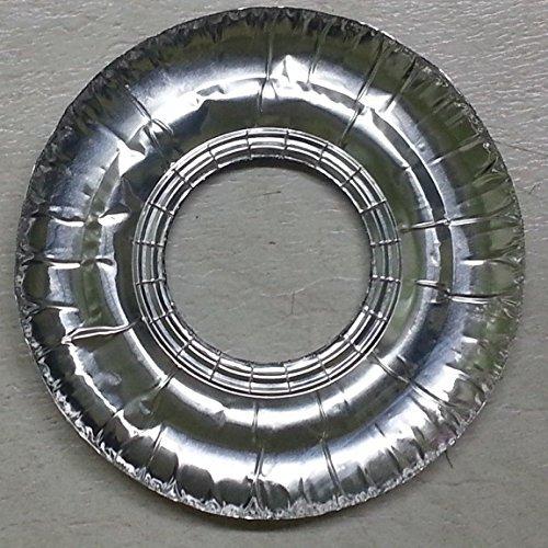 40 Pcs Aluminum Foil Round Gas Burner Disposable Bib