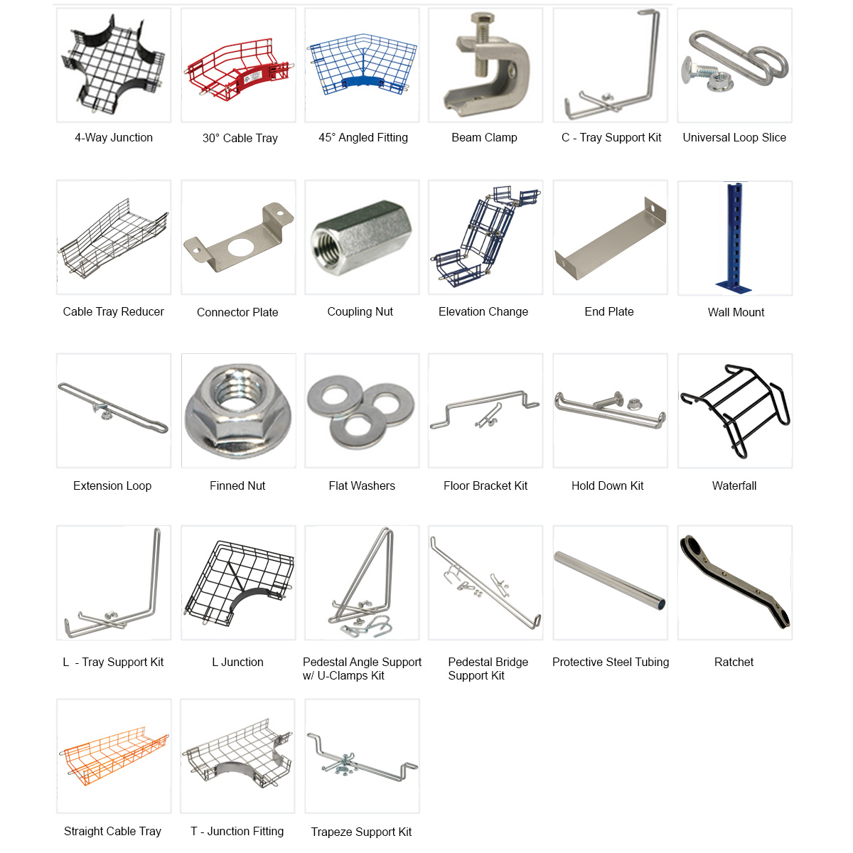 Cable Tray Accessories Hardware Wire Management Systems