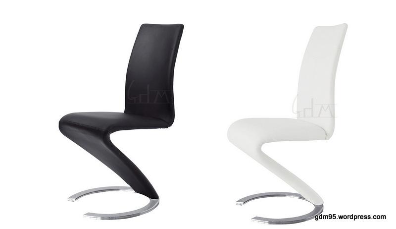 chaise design noire ou blanche a153n ou a153b electro discount
