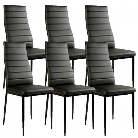 lot de 6 chaises noires a73 electro discount