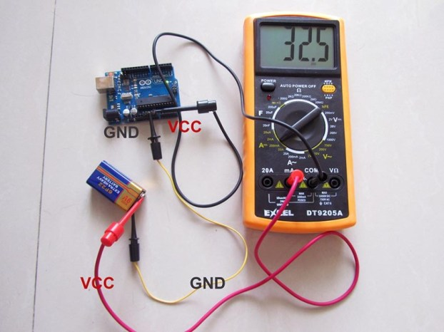 Connect multimeter into the power line