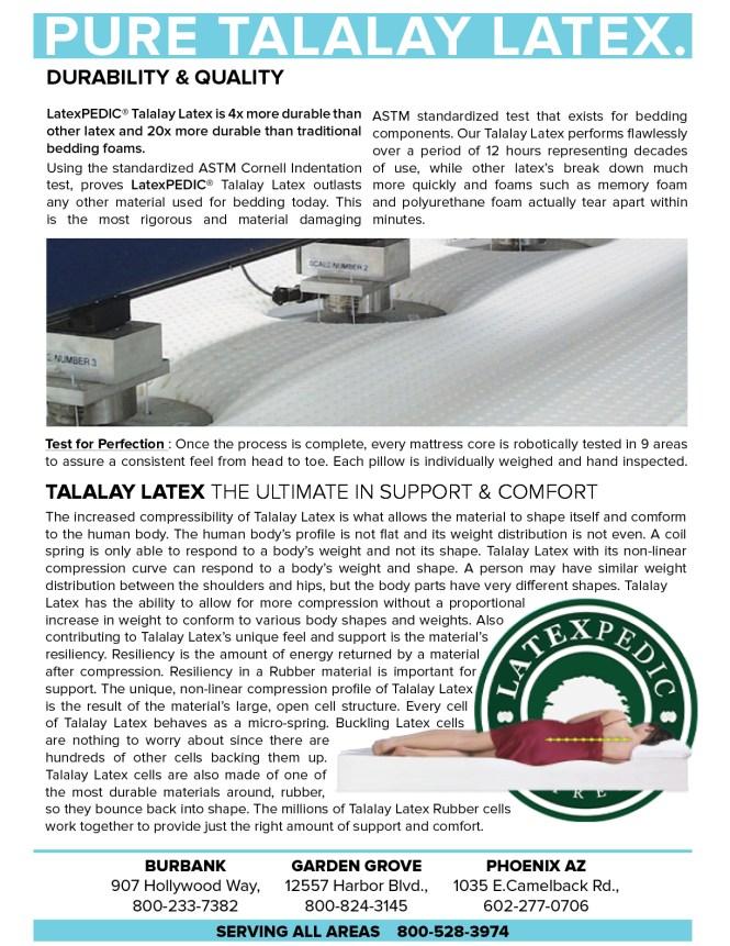 Latex Mattresses Natural Beds Organic Talalay 100 Pure Foamds