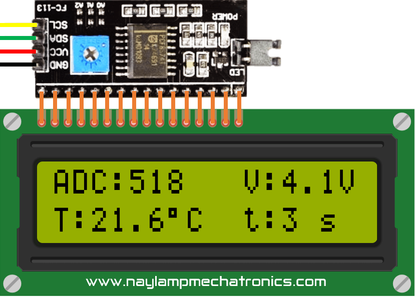 Datos y variables en LCD I2C