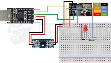 conexion ESP8266 ESP 01 - Electrogeek
