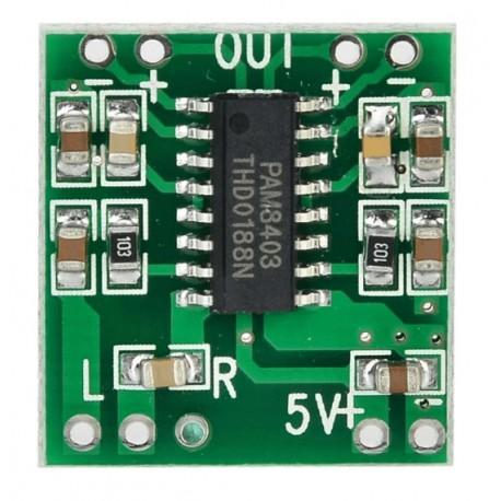 amplificador digital con control de volumen 3wx2 pam8403 - Electrogeek