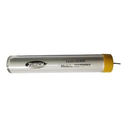 tubo de estano 60 1mm x 17gr zurich 1009135 - Electrogeek