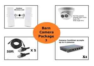 3 barn camera package
