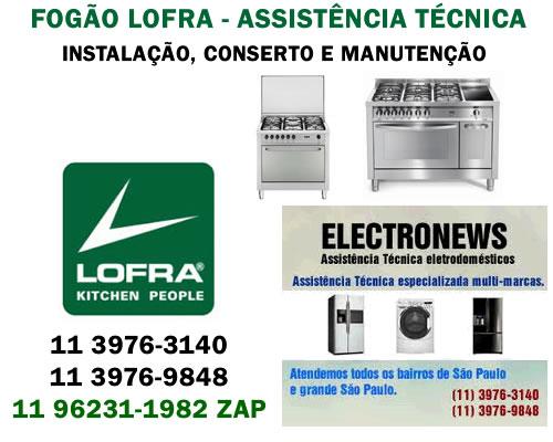 Fogão Lofra assistência técnica
