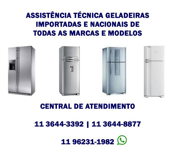 assistência técnica geladeiras importadas e nacionais