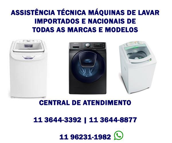 assistência técnica maquinas de lavar importadas e nacionais
