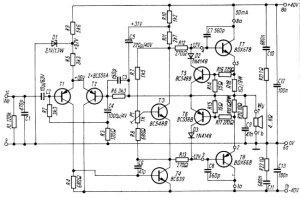 Audio Amplifier 100W with BDX66B, BDX67B