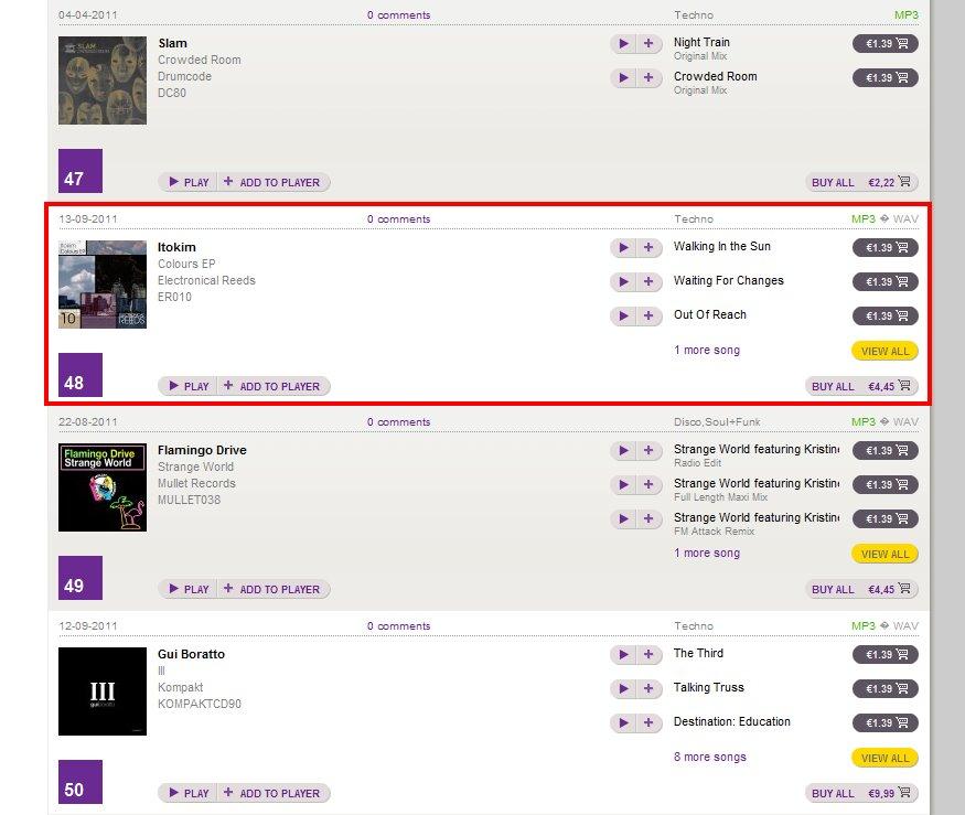 20110914 - Itokim Top 100 Techno WhatPeoplePlay