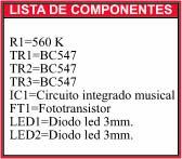 Multicircuito fotosensible componentes