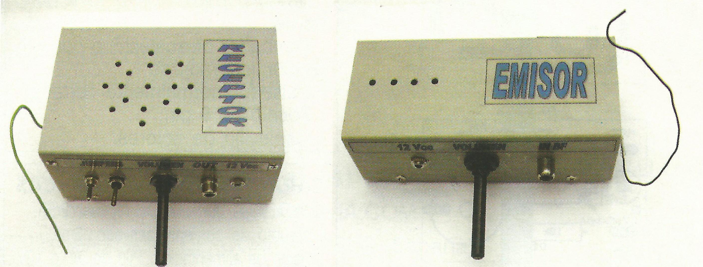 Circuito Emisor Receptor : Emisor y receptor para radiodifusión en fm a mhz de