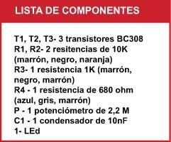 Detector componentes