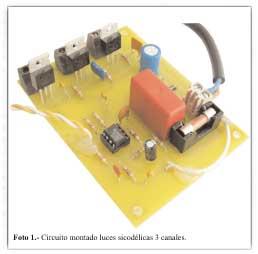 MONTAJE / Luces Sicodélicas de tres canales