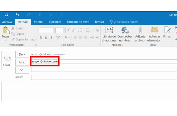 correo soporte técnico Hikvision
