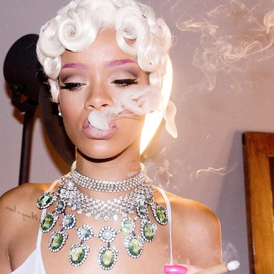 Image result for rihanna in pink eyebrows pour it up