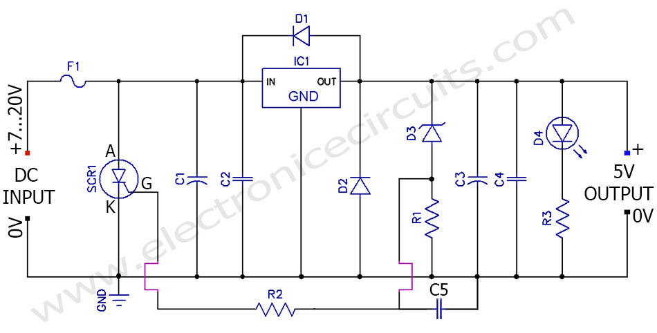 7805 5V Regulated Power Supply Overvoltage Protection Circuit diagram?resize\\\\\\\=665%2C337 hk395 subwoofer wiring diagram for block diagram, amplifier harman kardon hk395 wiring diagram at suagrazia.org