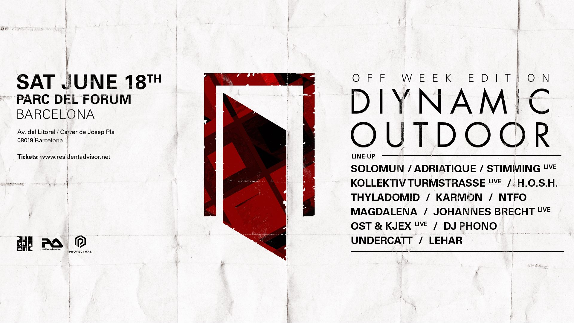 Diynamic Outdoor, Off Week Edition 2016 - Electronic Groove