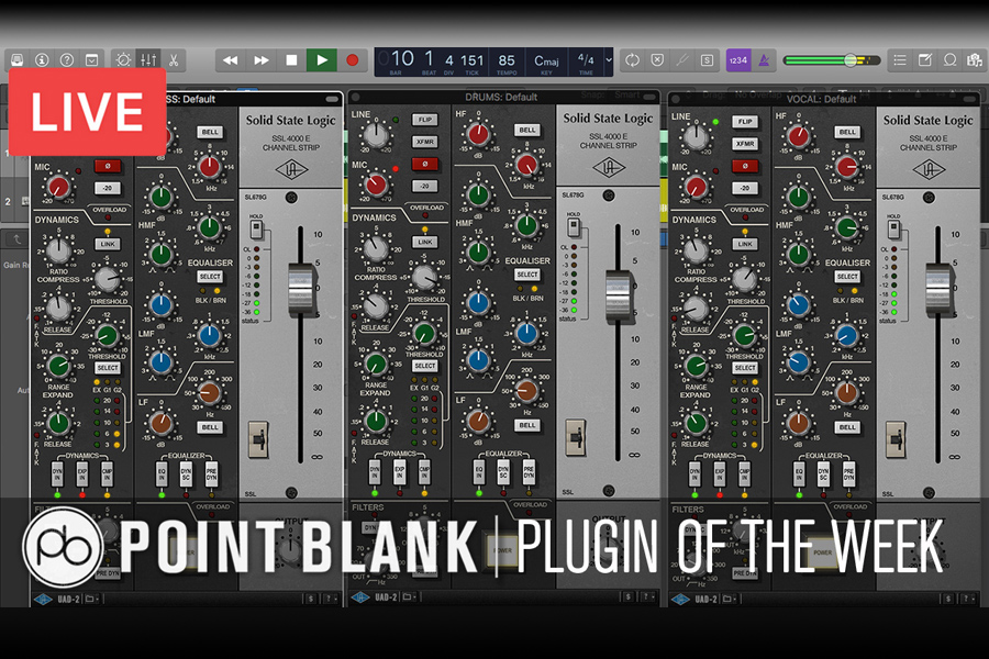 Point Blank Plugin Of The Week: SSL 4000 E (Channel Strip Plugin)(Video)