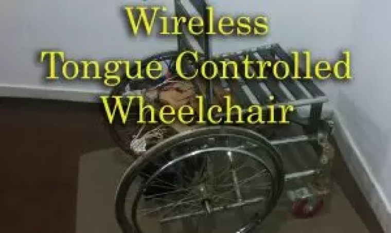 tongue controlled wheelchair using Arduino, in this project the wheelchair is controlled using the Hall Effect Magnetic Sensor using the wireless technology based on the 433MHz