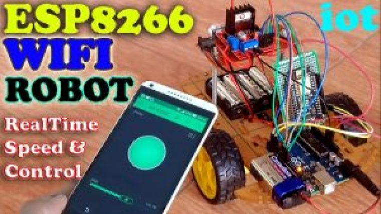 Nodemcu ESP8266 Wifi Robot Car
