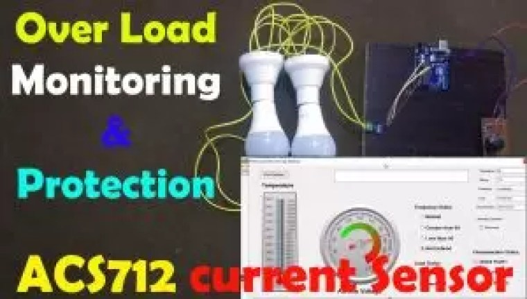 Over load monitoring and Protection using Arduino & ACS712 Current