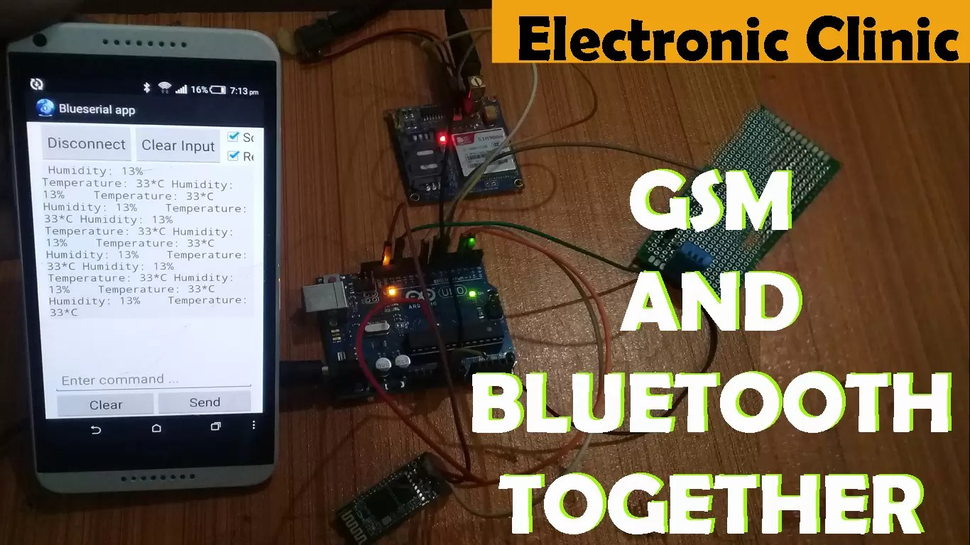How to use GSM and Bluetooth Together To monitor Any Sensor