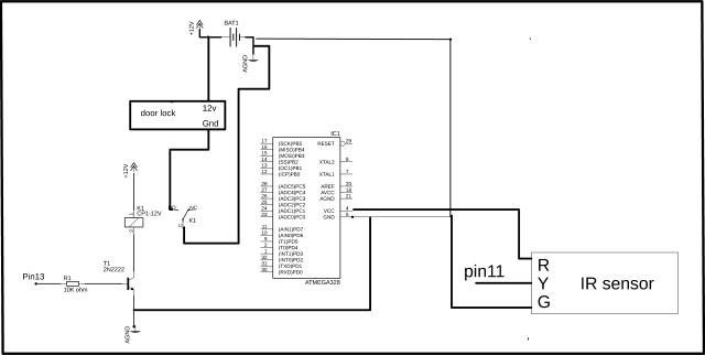 Remote Controlled Door Lock
