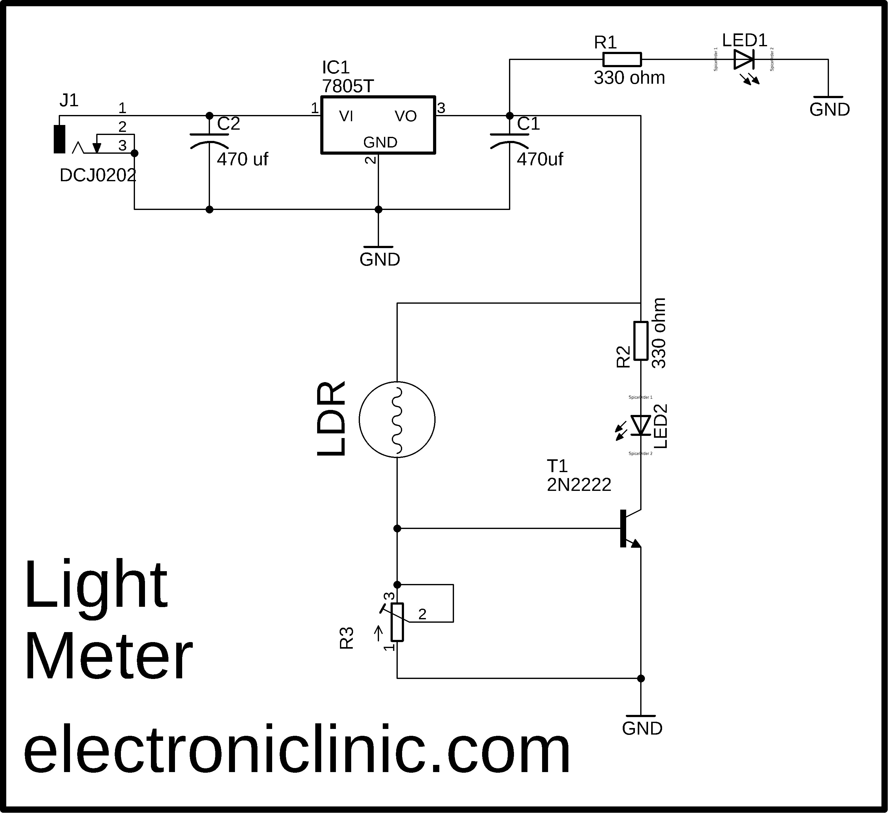 Electronic projects with 2n2222 Transistor or BC547 Transistor