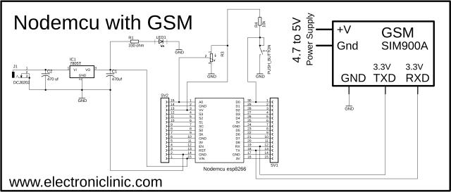 Nodemcu with GSM