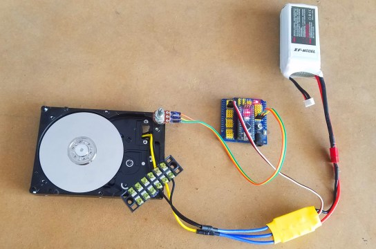 connecting the lipo battery with Hard disk Motor